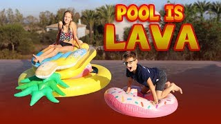 POOL IS LAVA CHALLENGE!!!
