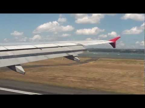 Landing Denpasar Bali Airport (Air Asia A320)
