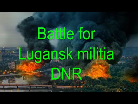 2015 Battle for Lugansk militia DNR shelling enemy Luhansk,Mariupol, Ukraine