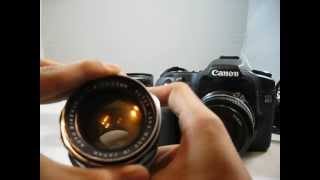 How to Use Vintage Manual Focus Lenses on DSLR Cameras Feat. Canon EOS 40D