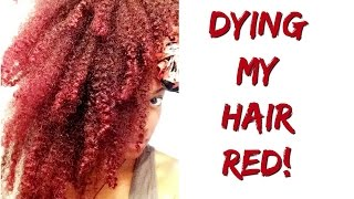 Bubbz | Dying My Hair Red Tutorial