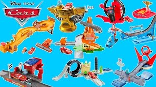 DISNEY PIXAR CARS RADIATOR SPRINGS STORY SETS LIGHTNING JUMPS OVER FRANK TRACTOR TIPPIN PLAYSET