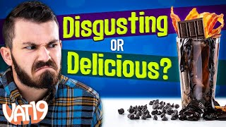 Eating Tree Bark and Drinking Ranch (DISGUSTING!) | Soda VS Real Challenge