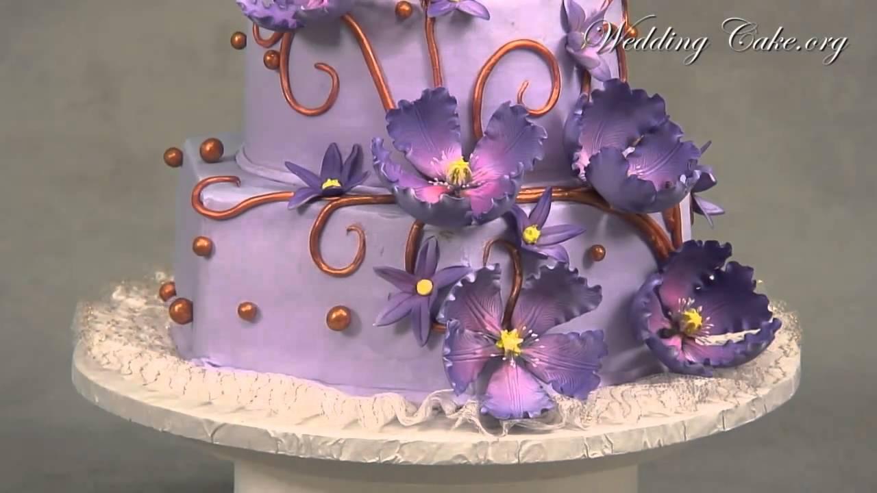 Purple Wedding Cakes Elegant Wedding Cake Purple