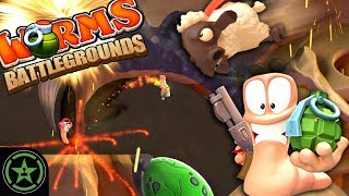 IT'S ALL BUSTED - Worms Battlegrounds - Worms MAYhem | Let's Play
