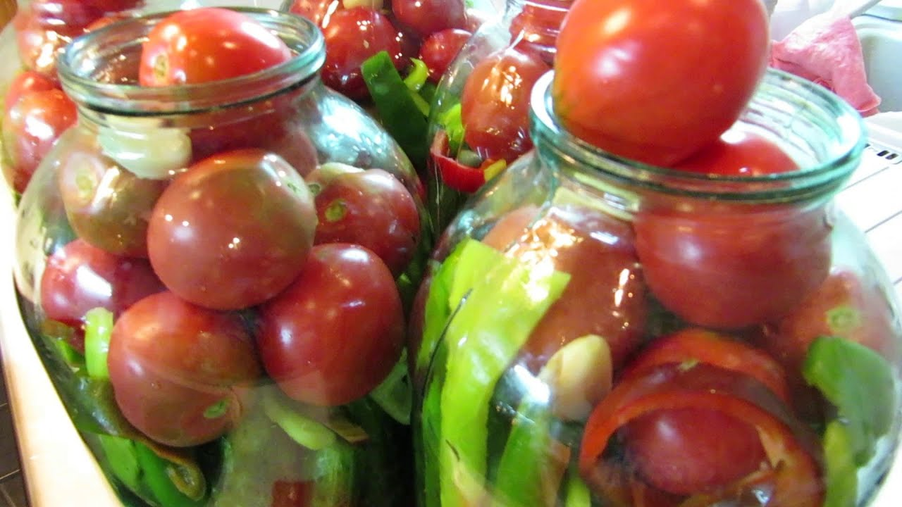 Грузинский салат из помидоров и огурцов 28