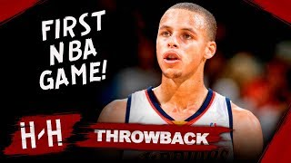 Stephen Curry First NBA Game, Full Highlights vs Rockets (2009.10.28) - CRAZY Debut! HD
