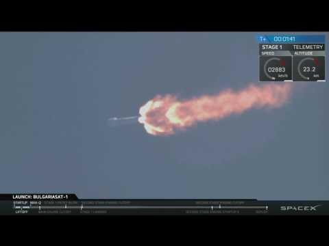 Start rakiety Falcon 9R z misją BulgariaSat-1 23.06.17