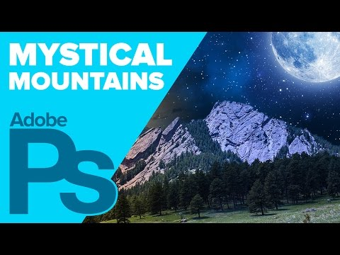 Photoshop: Mystical Mountains Photo Composition Tutorial