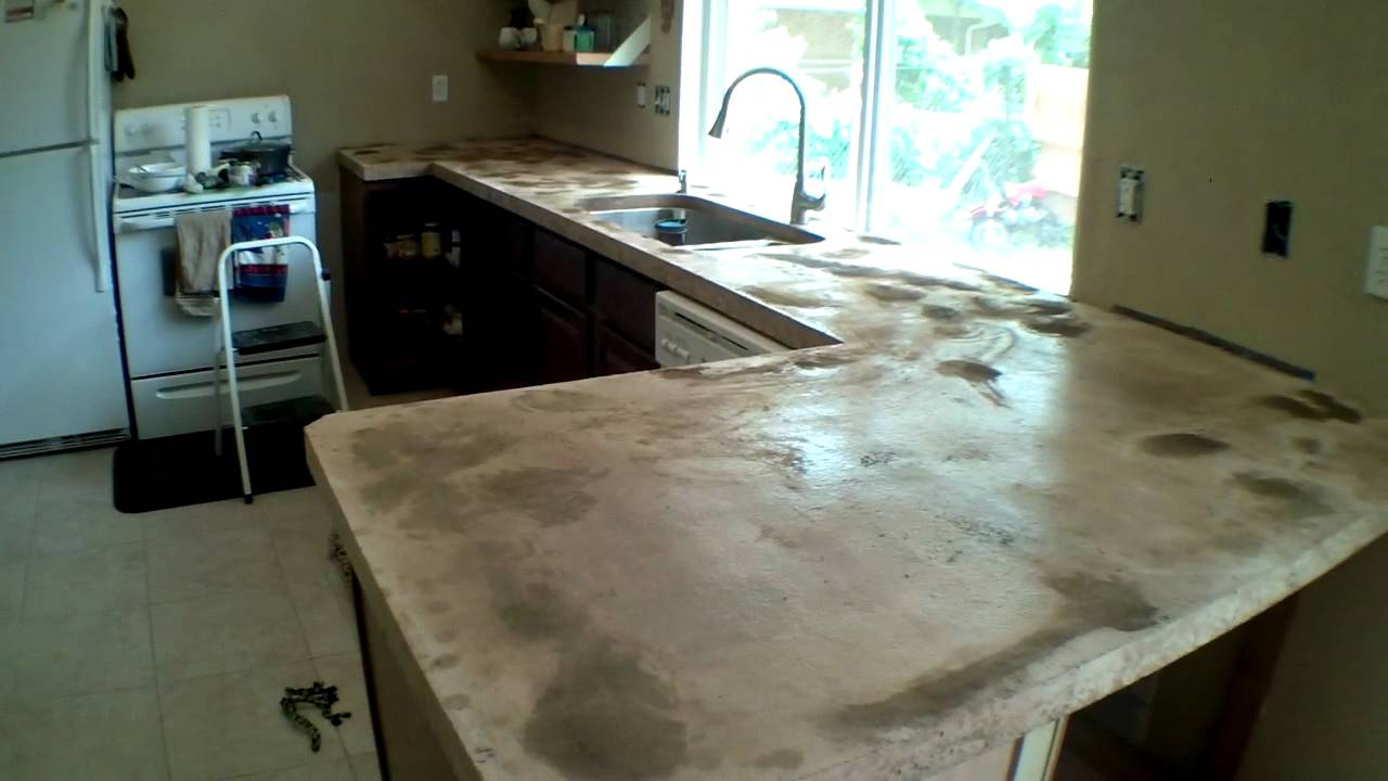 Custom Concrete Counter Tops Start To Finish Part 2 Youtube