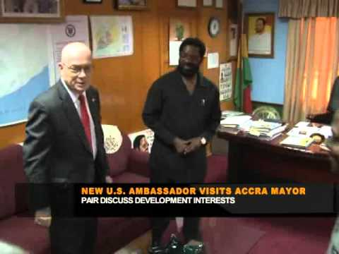 US AMBASSADOR PAYS COURTESY CALL ON ACCRA MAYOR