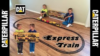 NEW Construction Express Train Toy - Box opening, Setting up, and Playing!