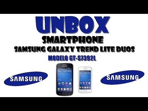 Unbox do smartphone samsung galaxy trend lite duos modelo gt s7392l how to save money and do - Smartphone galaxy trend lite ...