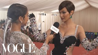 Bella Hadid on Her Jewel-Encrusted Met Gala Dress | Met Gala 2019 With Liza Koshy | Vogue