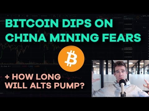 Bitcoin Dips on China Mining Fears and CMC Price Updates - HODL, Playing Altcoin Pump Game - Ep119