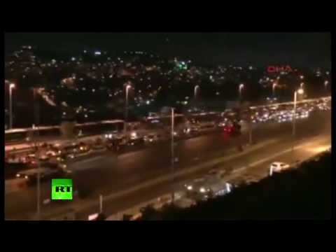 Turkey coup: Tanks on streets of Istanbul