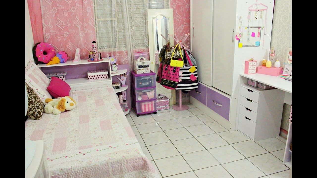 Tour Pelo Meu Quarto Toda Feminina ~ Tour pelo meu quarto ?  YouTube