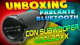 Parlante Bluetooth con subWoofer | coolbox | UNBOXING | nivel de bajos impresionante | 2015