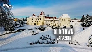 Old Town - Stari Grad - Varazdin - Snow Castle - Drone Video
