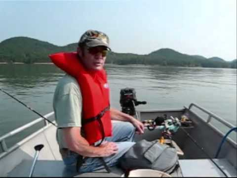 Muskie Fishing at Cave Run Lake, Kentucky  .wmv