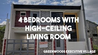 4 Bedrooms with High Ceiling Living Room in Greenwoods Executive Village - Rizal Properties