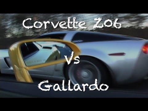 Stock Corvette Z06 Vs Gallardo With Tubi Exhaust