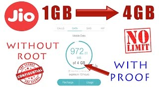 Reliance Jio Remove 1 GB Daily Limit 2017 | 100% WORKING