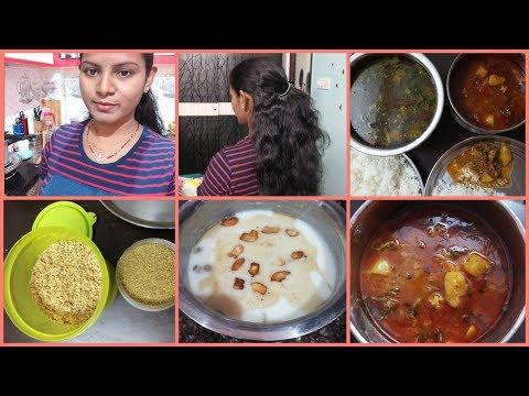 #DIML# Sunday Vlog/Mutton Aloo Curry/Saggu Biyam Payasam/Palli Karam/Podi#Amulya's kitchen&Vlogs