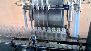 GMP Semi Automatic Four Head Volumetric Liquid Filling Machine