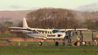 Shortest Runway in Lancashire-Short field/STOL Action-N208AJ-Cessna 208B Grand Caravan