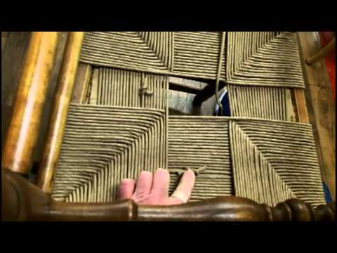 how to weave a seat in a rush chair youtube. Black Bedroom Furniture Sets. Home Design Ideas
