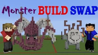 MONSTER BUILD SWAP! - Minecraft Minigame /w Taurtis