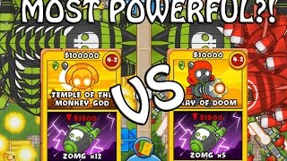 BTD Card Battles - Temples VS Ray Of Doom