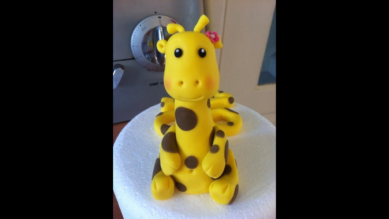 how to make fondant giraffe