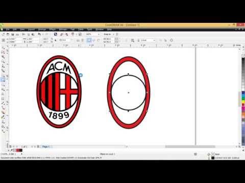 Cara membuat logo AC Milan dengan CorelDRAW x6