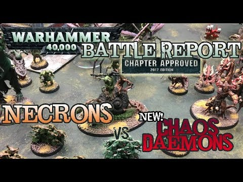 GMG 40k Battle Report/Review - NEW Chaos Daemons vs. Necrons
