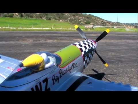 Banana Hobby Giant Scale P-51 Mustang  Review and Maiden flight EPO