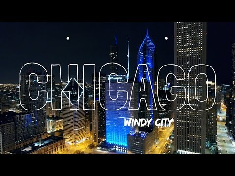 Chicago By Night 4K Drone Video