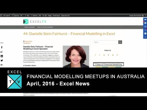 Financial Modelling Meetups in Australia - Excel News 2016-04