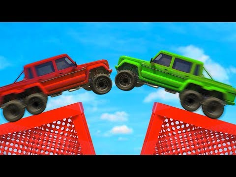MILE HIGH SUMO CAR DERBY! (GTA 5 Funny Moments)
