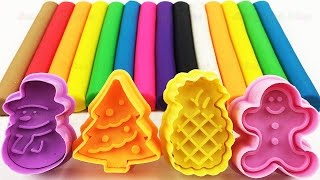 Learn Colors and Numbers 1 to 10 with Play Doh Modelling Clay and Cookie Cutters Creative for Kids