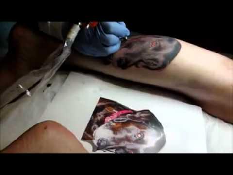 Paris tattoos charlotte nc tattooing dog portrait for Paris tattoos charlotte