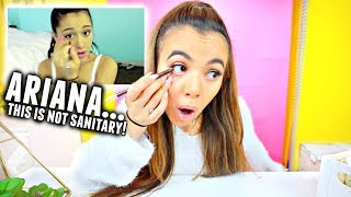 I Tried Following An Ariana Grande Makeup Tutorial... I donut know how to do makeup😂