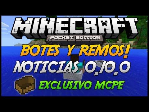 Minecraft PE: Noticias 0.10.0 Botes y Remos Exclusivo MCPE