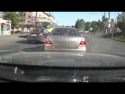 Троллейбус vs нарушителя Петрозаводск