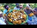 FULL CHICKEN EATING   Full Country Chicken Cooking and Eating in Village   Healthy Village Food