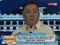 BT: Sec. Roque: Inulit ang medical tests kay Pangulong Duterte dahil sa nakitang growth