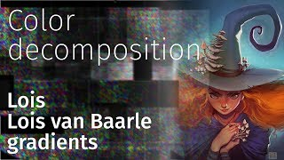color decompsition №3 Lois van Baarle gradient pack file free for photoshop