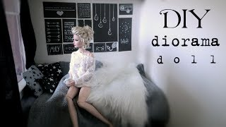 DIY: How to make tumblr bedroom for doll 1/4  - EASY -