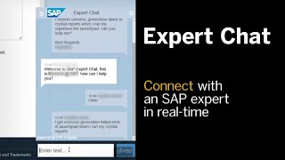 Next-Generation Support: SAP Expert Chat Update